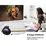 DP400 Mini Projector Support HD 1080P LCD Home Cinema Theater Projector with HDMI/AV/VGA/USB/SD, ideal for Video Games, Movie Night, Family Videos and Pictures