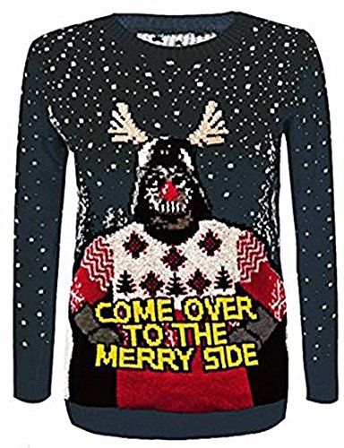 arriva Black Merry Star Ladies a Wars stampa Unisex christmas FashoinHope jumper laterale U1TWqX0