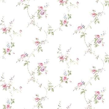 Essener Floral Prints Vinyltapete Pr33811 Weiss Grun Rosa Lila Blumen