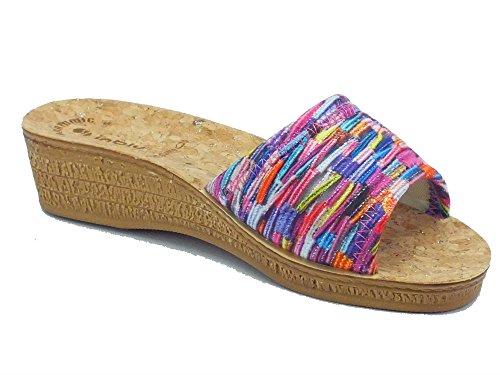 INBLU Di000056 Fuxia - Zapatillas de estar por casa de Material Sintético para mujer fucsia