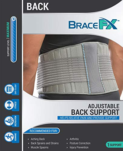 BraceFX Back Support, Features 8 Stays for Lumbar Support, Protects Back and Relieves Pain from Strains, Secondary Straps for Compression, Small by BraceFX (Image #3)