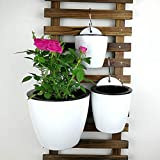 Sungmor Self Watering Wall Planter - Modern White