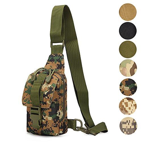 Tactical Sling Backpack  Hoanan Outdoor Shoulder Chest Pack Mini Unbalance Crossbody Edc Bag For Men Women Girls Boys Bicycle Daypack