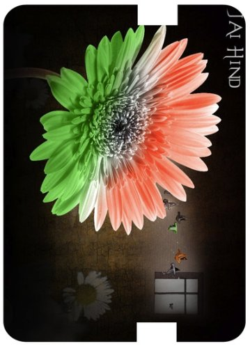 India flag in flower with orange white and green color amazon india flag in flower with orange white and green color with sun rise1 white back cover mightylinksfo