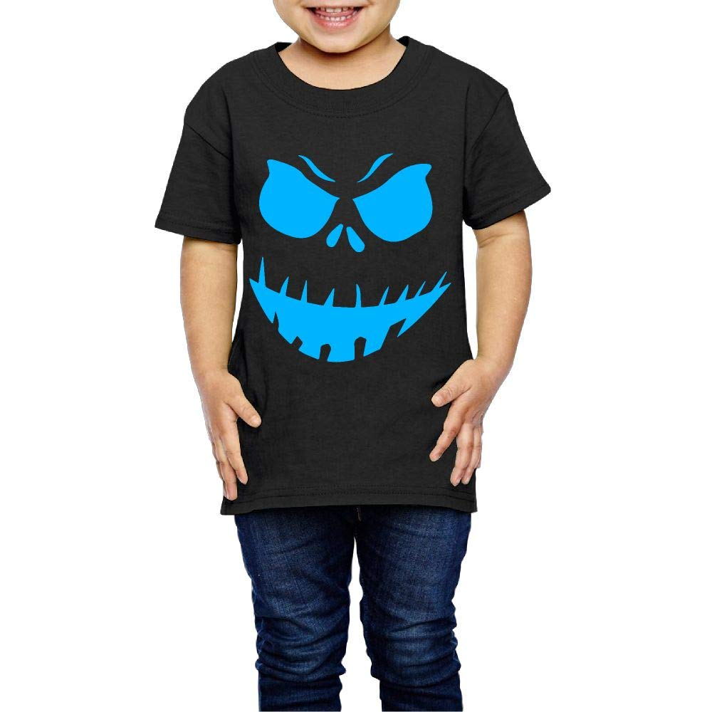 XYMYFC-E Scary Face Halloween 2-6 Years Old Boys /& Girls Short-Sleeved Tee Shirt