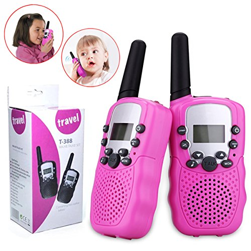 Toys for 5-8 Year Old Girls, JoyJam Walkie Talkies for Kids Girls Outdoor Fun, Gifts for Girls Age 4-6 Pink WT03 by Joyjam