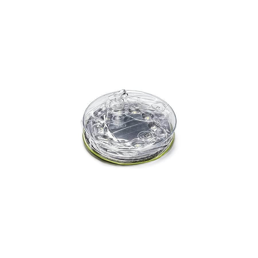 MPOWERD Luci Outdoor 2.0 Inflatable Solar Light, Clear Finish, Adjustable Strap