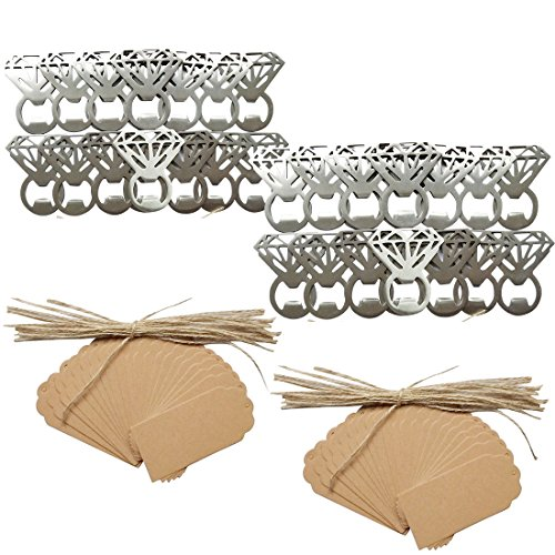 50pcs Vintage Diamond Bottle Openers Wedding Favor Souvenir Gift Set Review