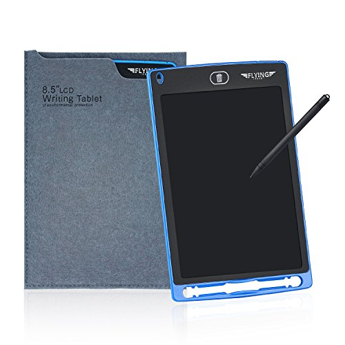 Writing Pad Accessory - FLYINGTECH 8.5 inch LCD Writing Tablet With Sleeve Durable Drawing and Writing Board eWriter Doodle Pad Message Board Gifts for Kids&Friends. (Blue+Case)