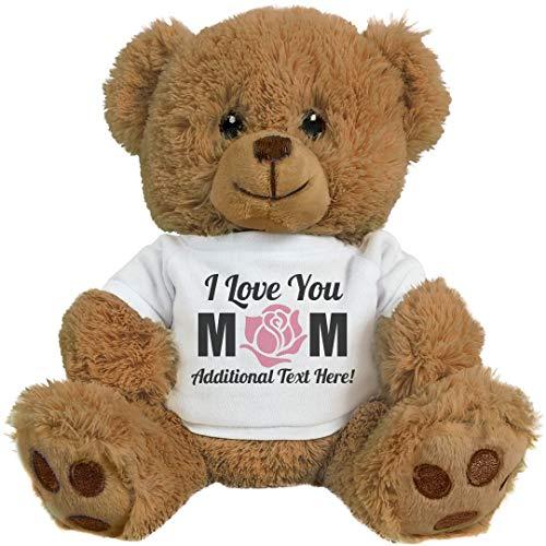 Custom I Love You Mom Gifts: 8 Inch Teddy Bear Stuffed Animal - Mama Bear Teddy