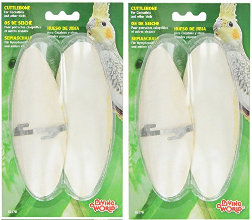 Living World Cuttlebone, Large, Twin Pack (Twin pack (2 Pack)) by Living World