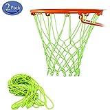 DOUBRO Basketball Hoop Kit with Luminous Outdoor Net for Almost Weather, Fits Standard Indoor or Outdoor Basketball Hoop, 12 Loop (Pack of 2)