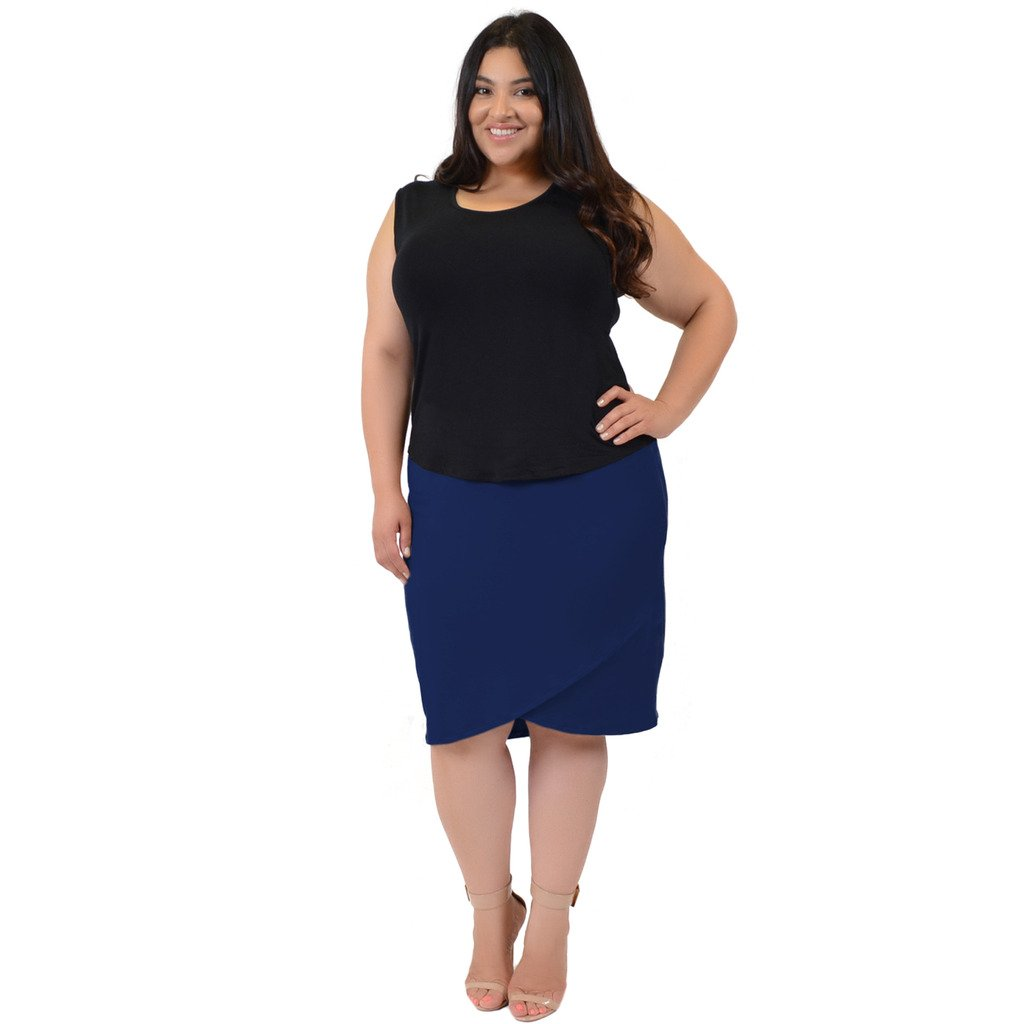 9e5141bbd8 Stretch is Comfort Women's Plus Size Tulip Skirt at Amazon Women's Clothing  store: