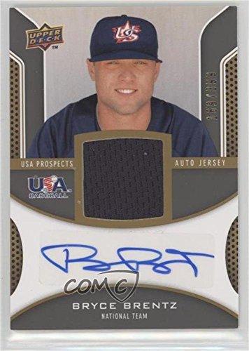 Bryce Brentz #169/399 (Baseball Card) 2009 Upper Deck Signature Stars - USA Prospects Autograph Jerseys - Usa Jersey Bb