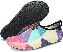 L-RUN Men's Water Sports Shoes Womens Barefoot Quick-Dry Aqua Socks for Swim Beach Pool Surf Yoga