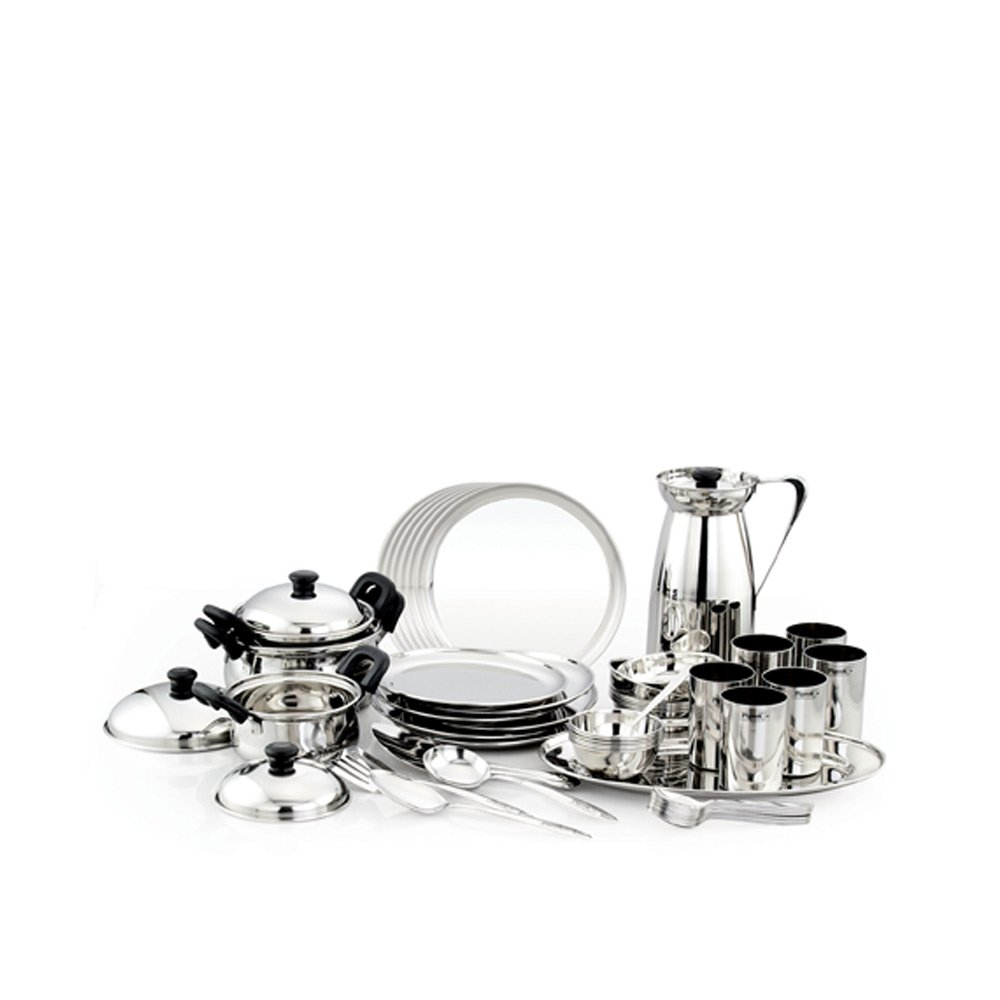 Pigeon Sparkle Dinner Set, 51-Pieces