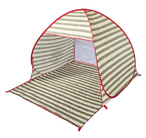 1-3 Person Beach Tents Sun Shelter Waterproof Shade Canopy for Outdoor Sports Hiking Travel Rainfly-Stripedprint ()