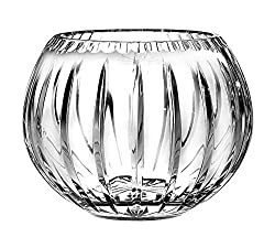 "European Hand Cut - Crystal Rose Bowl 5""D"
