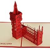 Papercraft Pop-Up Elizabeth Tower Of Big Ben 3D Greeting Cards
