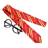 Halloween Novelty Glasses, Wizard Wand, Striped Neck Tie Halloween Costume Accessories, Fits Most Kids & Adults