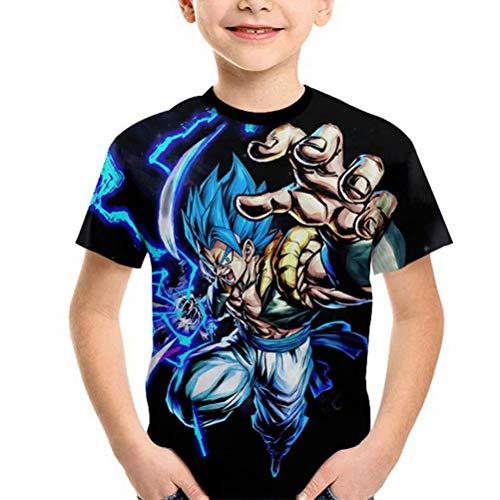 Tsyllyp Boys Dragon Ball z Shirt Goku Cool Graphic 3D Print Short Sleeve T-Shirt -