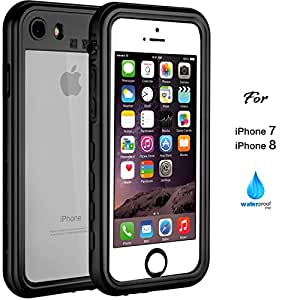 iPhone 7 8 Waterproof Case, 2017 Version IP68 Case by ASAKUKI, Certified Case, Full Body Protective, Shockproof, Scratch-proof, Dustproof Case With Sensitive Screen Protector