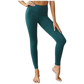 Baiomawzh Pantalones Yoga Mujeres Leggings Largos Color ...