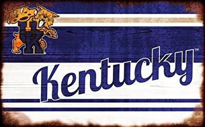 Fan Creations University of Kentucky Heritage Team Name Burnt Wood 11 x 19, Multi