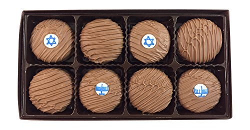 Philadelphia Candies Milk Chocolate Covered OREO Cookies, Hanukkah Menorah Star of David Jewish Gift