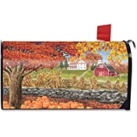 Mailbox Cover Buzón Cover Autumn Day Scene Magnetic