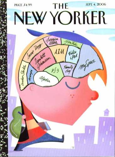 New Yorker Cover Bob Staake Youths Brain Map Snoop Dogg Myspace Ps3   9 4 2006