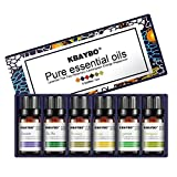 NEWKBO Essential Oil Set,Top 6 Pure of The Highest Quality Aromatherapy Oils Lavender, Tea Tree, Rosemary, Lemongrass, Orange,Peppermint