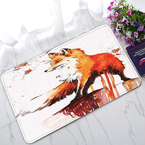 RHS Trade Fox Autumn Maple Non-Slip Doormat Indoor/Outdoor/Bathroom Doormat 30 x 18 Inches