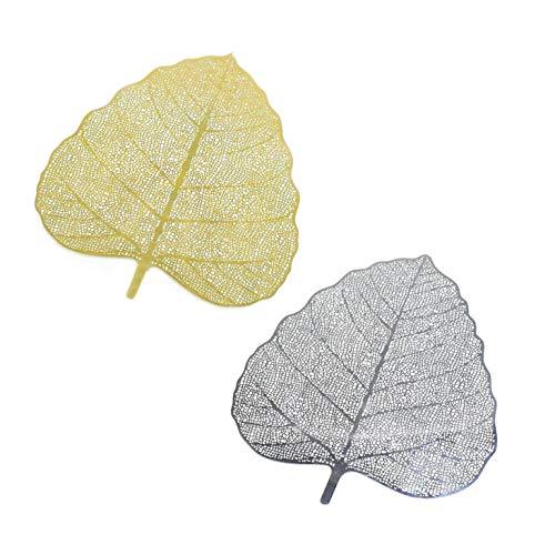 Tea Filter Bodhi Leaf 2 PCS Tea Infuser Reusable Strainer Loose Tea Leaf Spice Filter Creative Net Kongfu Tea ()