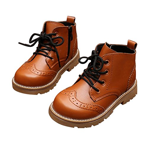 Optimal Boy's Girl's Waterproof Lace-Up Boots