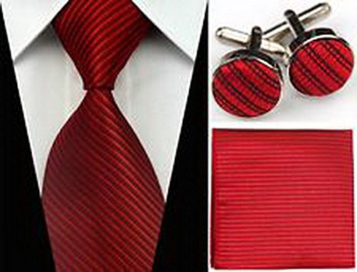 jacob-alex-43723-black-red-striped-necktie-mens-tie-cufflinks-hanky-handkerchief-set