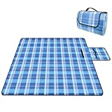 Royala Beach Picnic Blanket 200 x 200 cm Waterproof Sand-Proof Extra-Large Lightweight Portable Picnic Mat for Outdoor Camping BBQ Hiking and Grassland