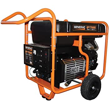 Generac 5735 GP17500E 17500 Running Watts/26250 Starting Watts Electric Start Gas Powered Portable Generator