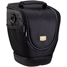 Rivacase 7205-B Zoom Lens DSLR Holster Camera Case, Laconic, Padded, Water Resistant, Black Color