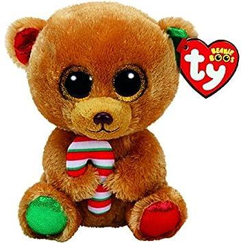 Ty TY-37240 Beanie Boos Navidad Bella-Osita Marrón 15 cm (37240TY)