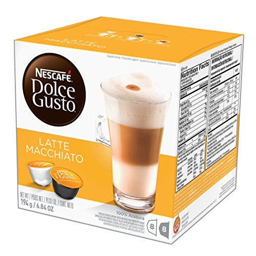 (NESCAFÉ Dolce Gusto Coffee Capsules  Latte Macchiato  48 Single Serve Pods, (Makes 24 Specialty Cups) 48 Count)