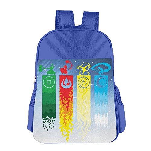 [JIMBERT The Last Air Bender Ava Tar Funny Kids School Backpack For 4-15 Years Old RoyalBlue] (Traveling Circus Costume)