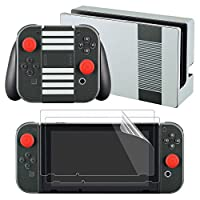 eXtremeRate® NES Edition Skin Sticker Decal for Nintendo Switch with Screen Protector (Console & Joy-con & Dock & Grip)