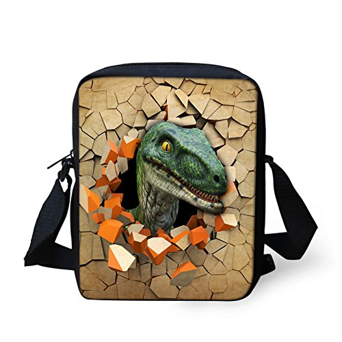 3 Cool Dinosaur Print dinosuar Bags 3D Coloranimal Messenger pattern Boys Head Animal for S1qwCn7d