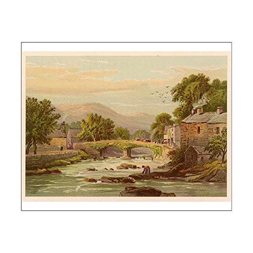 10X8 Print Of Wales/beddgelert (625242)