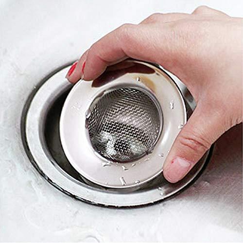Gano Zen ivyshion 7.5cm Stainless Steel Colander Sink Basin Bathtub Hair Drainer mesh Waste Plug Hole Filter Flume Strainer -