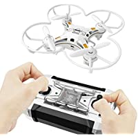 MKLOT FQ777-124 WiFi Pocket Drone Mini Micro Quadcopter 4CH 4-Axis Gyro w/ Switchable Controller RTF Helicopter Best Gift for Boys Kids Children - Black