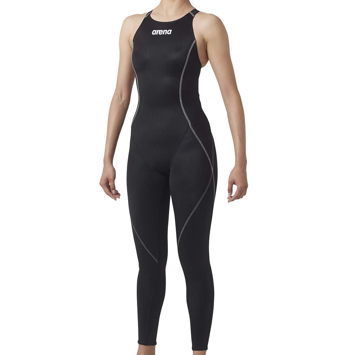arena(アリーナ) トレーニング 競泳用 水着 レディース ロングスパッツ SAR-8143W Medium (BKGY)ブラック×シルバー×グレイ B07JGZVQ75