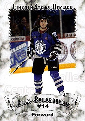 (CI) Riley Bourbonnais Hockey Card 2012-13 Lincoln Stars Traded 1 Riley Bourbonnais