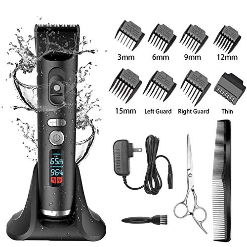 Hair Clippers For Men Hair Trimmer Cordless Mens Hair Clippers Pro Men's Clippers For Hair Men's trimmers Hair Cutting kit LCD Display (Black-hair clipper)